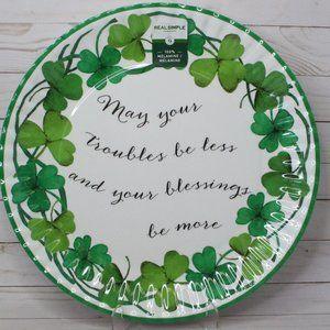Real Simple IRISH Melamine Clover Platter